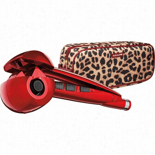 Babyliss Pro Nano Titamium Miracurl Styling Tool - Crimson With  Leopard Case