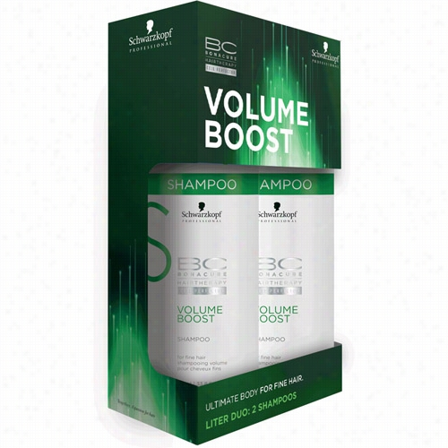 Schwarzkopf Professional Bcc Bonacure Volume Boost Shampoo Liter Duo