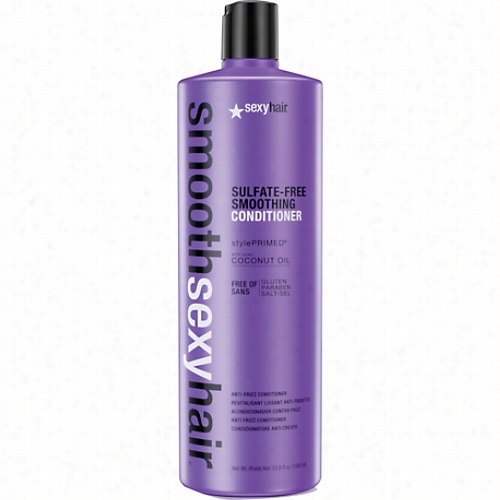 Sexy Hair Smooth Sexy Hair Sulfate-free Smoothing Conditioner-33.8 Oz.