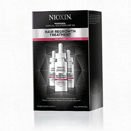 Nioxin Hair Regrowth Treatment In The Place Of Women - 90 Day