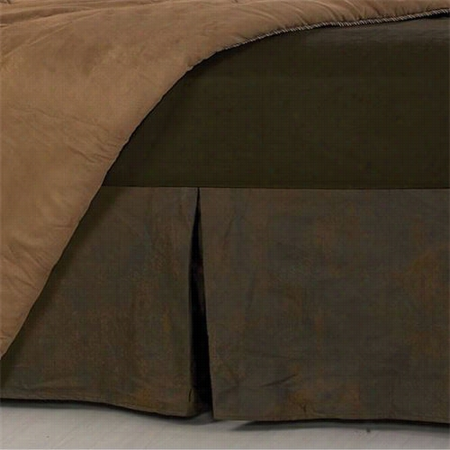 Hiend Accents Bs1001-kg-oc King Faux Leather Bedskirt In Brown