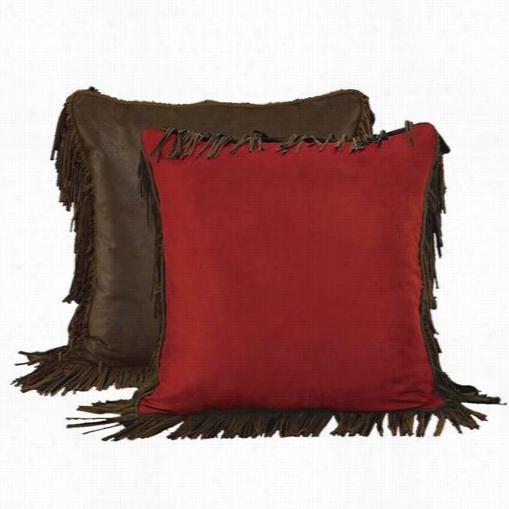 Hiend Accents Ws4005es Rodeo Uero Sham In Red/brown Wiht Fringee