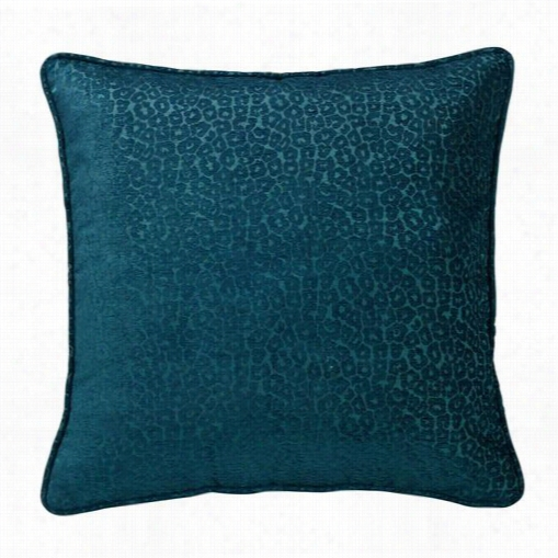 Hiend Accents Ws40822p2 Alamosa Teal Chenille Leopard Pillow In Teal