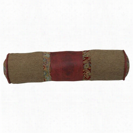 Hiend Accents Ws4287p7 San Angelo Ne Ckroll Pillow In Red/tan