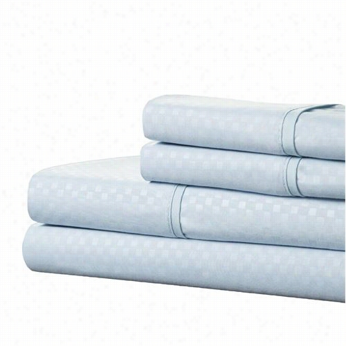 Lavish Home 66-90-f-bl Ejbossed Sheet Set In Blue
