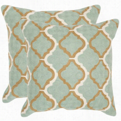 "Safavieh Dec909a-2020-set2 Samson 20"" Amistg Reen Decorative Pillows - Set Of 2"