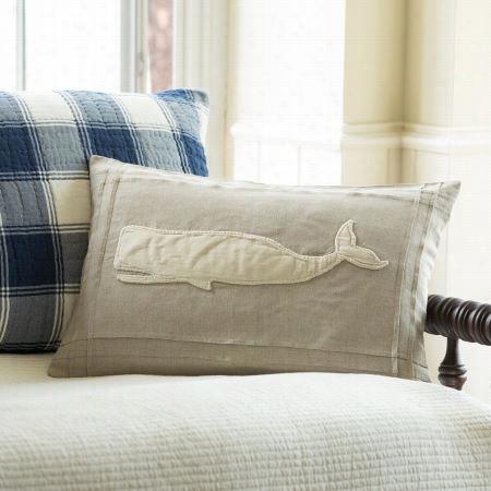 Tay Lor Linens 1063nwhale-bou Linen Whale Pillow