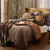 "HiEnd Accents LG1860-SK-OC Highland Lodge 110"" x 96"" King Comforter Set in Olive/Brown"