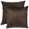 HiEnd Accents WS4078ES Tucson Faux Leather Euro Sham in Taupe/Black