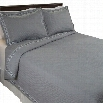 Lavish Home 66-10050-FQ Full/Queen 3 Piece Valencia Embroidered Quilt Set in Gray