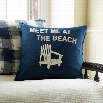 Taylor Linens 1021IMEET-LT Meet Me at the Beach Linen Pillow