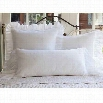 Taylor Linens 1033DAIS-BOL Daisy Dot Bolster Pillow (filled) in White