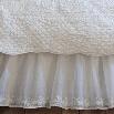 Taylor Linens 2008DAIS-EK Daisy Dot Eastern King Bedskirt in White