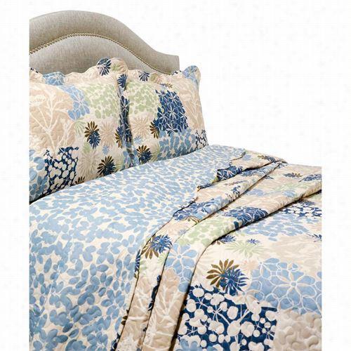 Pe Gasus Home Fashiions 4400vcbeth-4k Vintage Vermicekli King Em Broidery Bethany Quilt And Sham Set