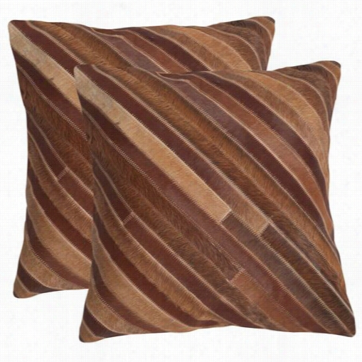 "Safavieh Dec213c-1818-set2 Cherilhn 18"" Tan Decorative Pillows - Set Of 2"