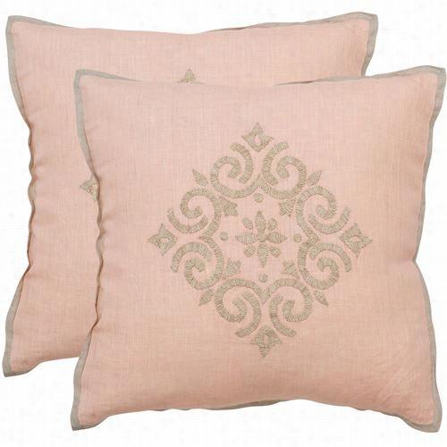 Safavieh Dec317a-1220-set2 Regina Sterl Ing Decorative Pillows - Sset Of 2