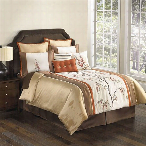 Hallmarg Collectibles 63436 Brisbaane Queen 9 Pieces Comforter Set