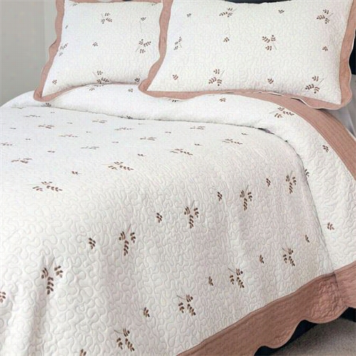 Lavish Home 66-10014-t 2 Piece Peyton Embroidered Twin Quilt Set