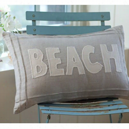 Taylor Llinens 1036natbeach-bou Natural Beach Pillow