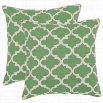 "Safavieh PIL927A-1818-SET2 Suzy 18"" Decorative Pillows in Green - Set of 2"