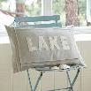 Taylor Linens 1063NLAKE-BOU Natural Lake Pillow