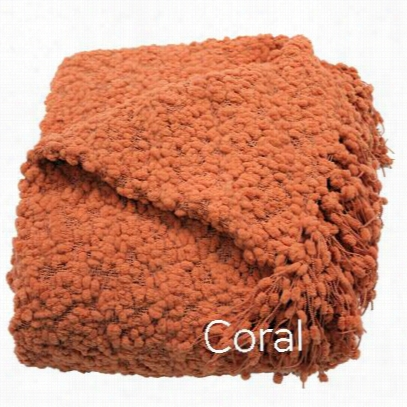 Woven Workz 051-061 Betsy Throw In Coral