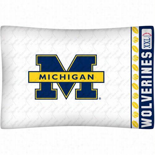 Sports Coverage 04mfpcs4miustan Ncaa Michigan Wolverines Micro Fiber Pillow Case