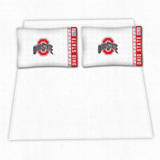 Sports Coverage 04mfshsohstwin Ncaa Ohio State Buckeyes Micro Fiber Twin Bed Sheet Set