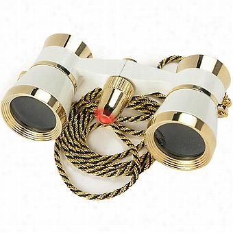 Barska 3x25 Opera Glasses With L Ighht, Pearl White