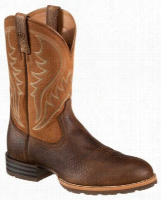 Ariat Hybrid Rancher1 2  Western Boots For Men - Earth dry Well Tan - e5bfdb865cf