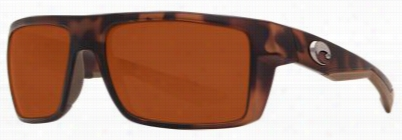 Costa Motu 580p Polarized Sunglassses - Retro Tortoise/copper