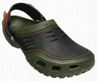 Cr Ocs Yukon Low-profile Sport Clogs For Men - Army Green/black -7  M