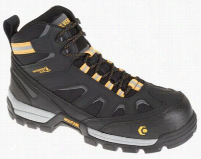 Wolverine Tarmac Fxmid Wate Rproof Safety Toe Work Boots For Men - Black - 14 M