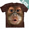 Kid's Baby Orangutan Big Face T-Shirt