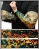 Tattoo Sleeves - Tiger and Lotus Temporary Tattoo Sleeves (Pair)