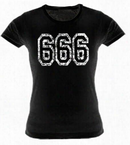 Distressed 666 Girs T-shirt