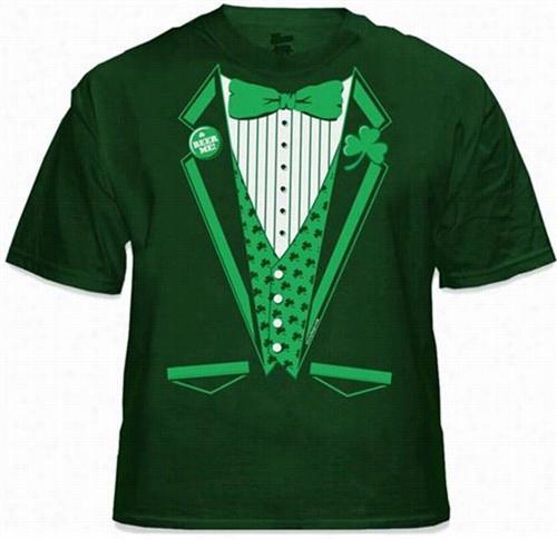 St.patrick's Day Irish Leprechaun Tuxedo T-shirt