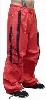 UFO Unisex Basic Strappy Pants (Red/Black)