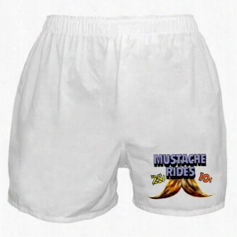 10 Cent Mustache Rides Boxer Shorts