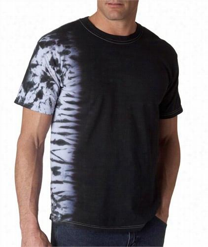 Premium Hand  Made Tie Dye T-shirts - Black Fusion