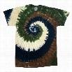 Camo Swirl Tie Dye Mens T-shirt