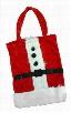 Deluxe Furry Santa Suit Gift Bag
