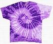 Purple And White Tie Dye T-Shirt