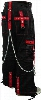 """Tripp NYC """"The Hands of Time"""" Bondage Pants (Black/Red)"""