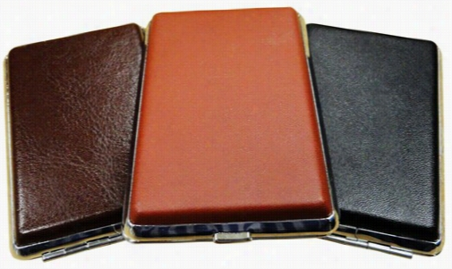 Double Sided Leather Wrap Cigarette Cases (for Ergular Size Cigaretes)