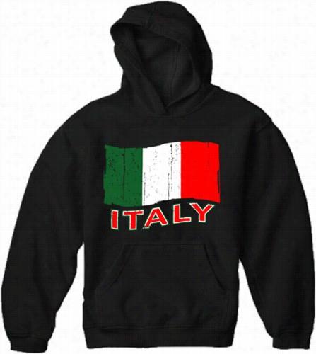 Italy Vinttage Flag Adult Hoodie