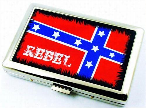 Rebel Confederate Flag Cogaretet Case (for Regular Size & 100's)