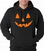 Halloween Hoodie - Orange Jack O' Lantern Adult Hoodie