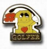 #1 Golfer Lapel Pin
