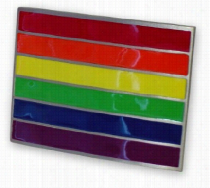 "Rainbow ""pride"" Belt Buckle With Free Belt"